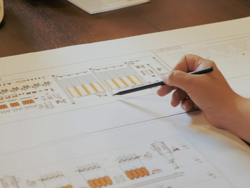 Mühlendiagramm und Revisionsdienste