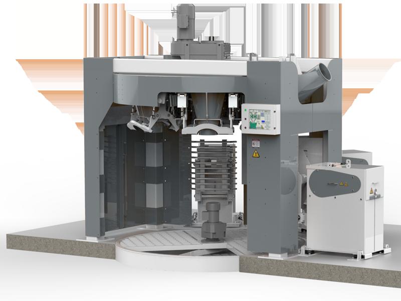 Шестистанционный Весовыбойный Аппарат Карусельного Типа с Двухступенчатым Взвешиванием, Для Муки3