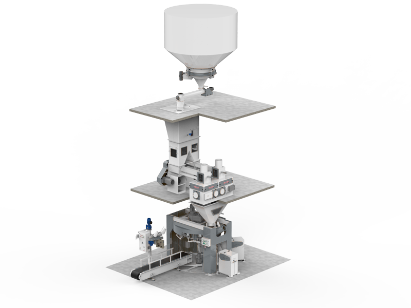 Flour Bagging System With Double Weight Hopper & Six Stations2