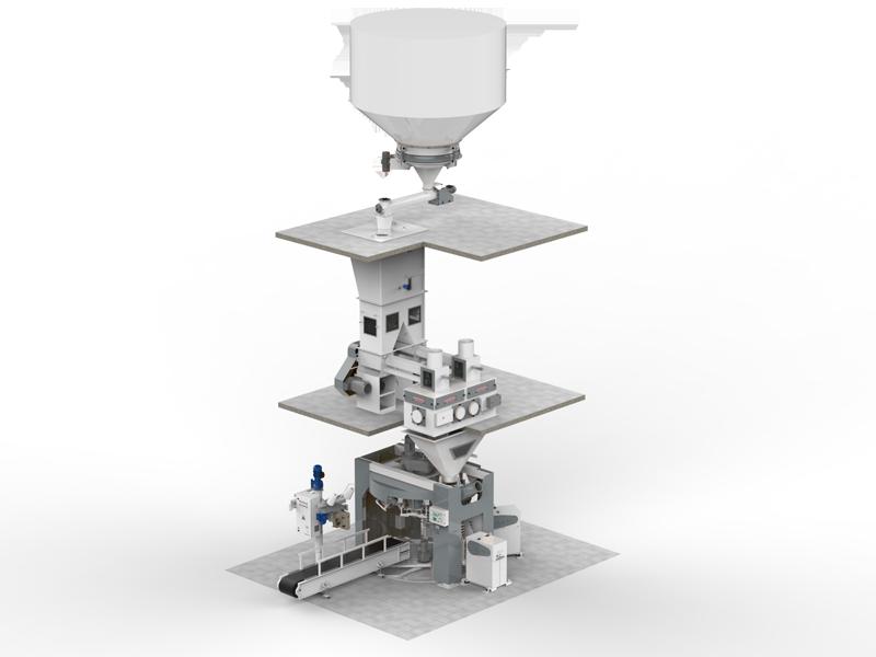 Шестистанционный Весовыбойный Аппарат Карусельного Типа с Двухступенчатым Взвешиванием, Для Муки2
