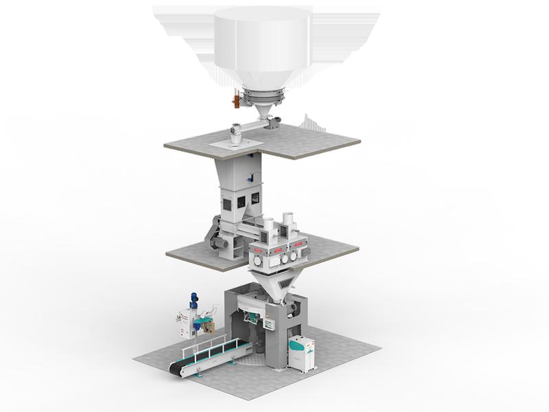 Четырехстанционный Весовыбойный Аппарат Карусельного Типа С Двухступенчатым Взвешиванием, Для Муки2