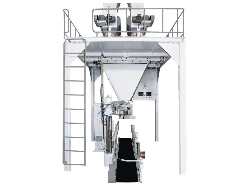 Feed Bagging Machine With Double Weigh Hopper and Single Station1