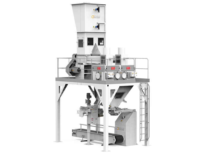 Flour Bagging Machine System With Double Weigh Hopper & Single Station1