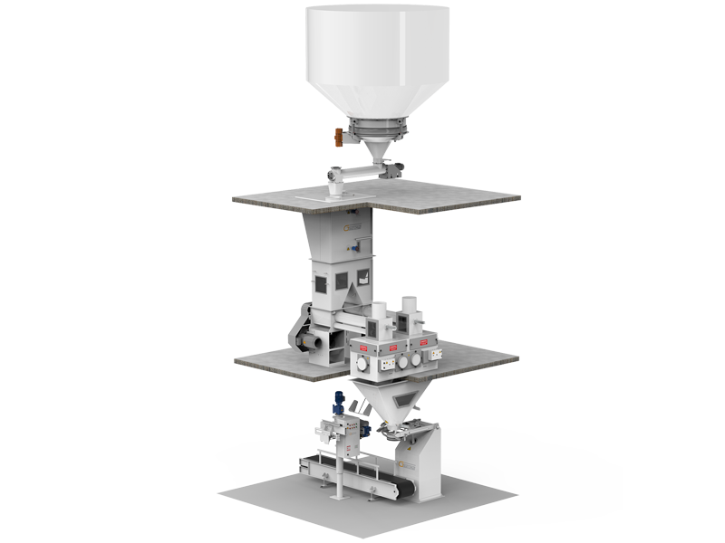 Flour Bagging Machine System With Double Weigh Hopper & Single Station2