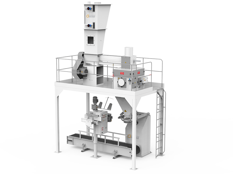 Flour Bagging Machine System With Single Weigh Hopper & Single Station1